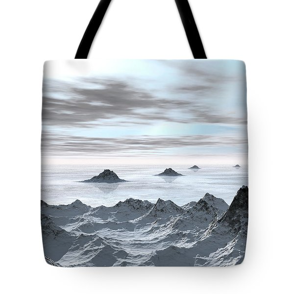 Frozen Arctic Sea Tote Bag
