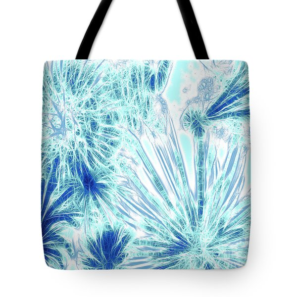 Frozen Blue Ice Tote Bag by Methune Hively