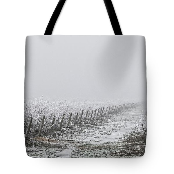 Frozen Blueberry Mist Tote Bag