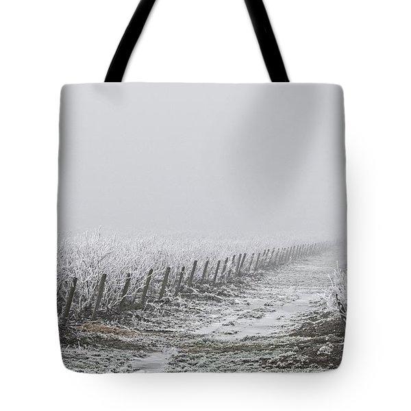 Frozen Blueberry Mist Tote Bag