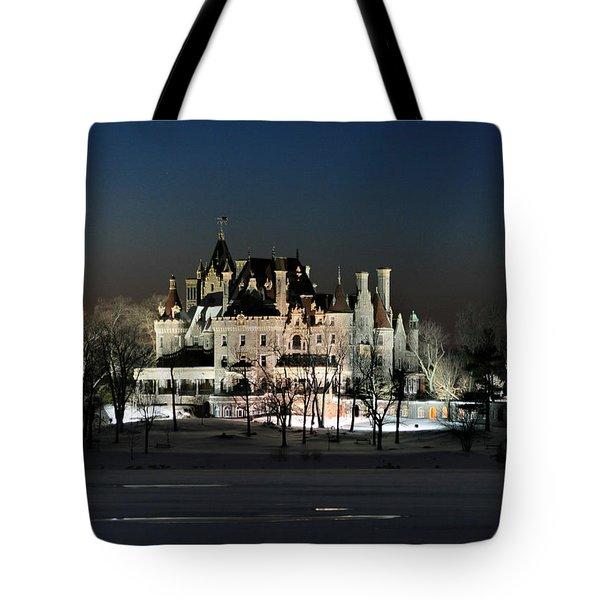 Frozen Boldt Castle Tote Bag