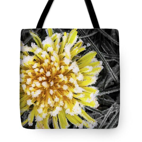 Frozen Dandelion Tote Bag
