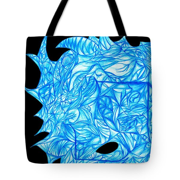 Tote Bag featuring the drawing Frozen Desire by Jamie Lynn