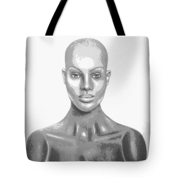 Bald Superficial Woman Mannequin Art Drawing  Tote Bag