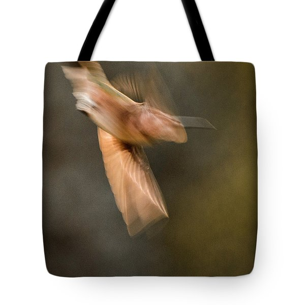 ...frozen Flight Hummingbird.... Tote Bag