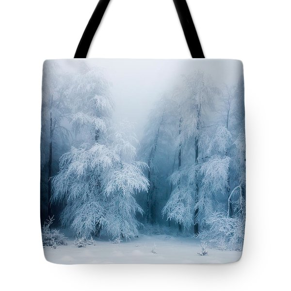 Frozen Forest Tote Bag by Evgeni Dinev