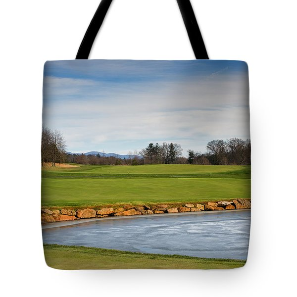 Tote Bag featuring the photograph Frozen Gleam by Claire Turner