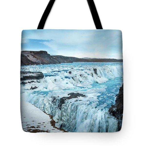 Frozen Gullfoss Tote Bag
