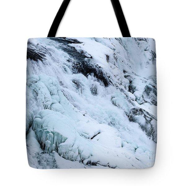 Frozen Gullfoss In Winter Tote Bag