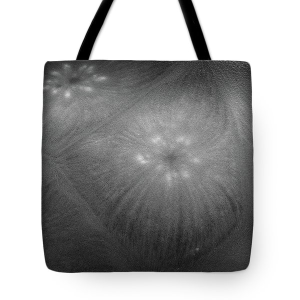Tote Bag featuring the photograph Frozen Ice Star Burst by Dennis Dame