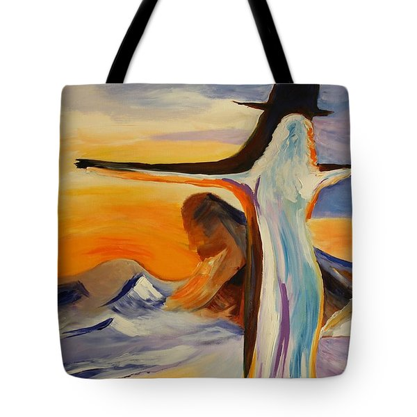 Tote Bag featuring the painting Frozen In Time by Geeta Biswas