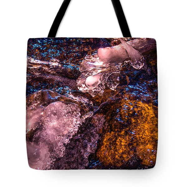 Frozen Lake Abstract Tote Bag