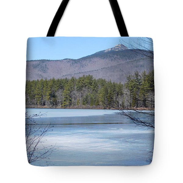 Frozen Lake Chocorua Tote Bag
