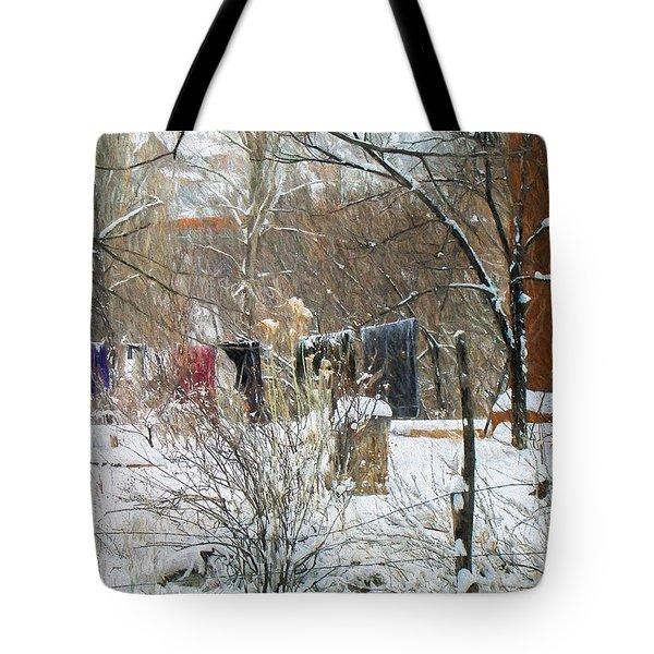 Frozen Laundry Tote Bag
