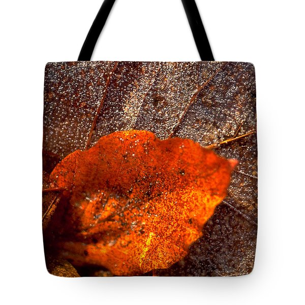 Frozen Leaf Tote Bag