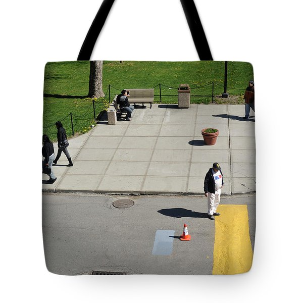 Frozen Lines Tote Bag by Jose Rojas