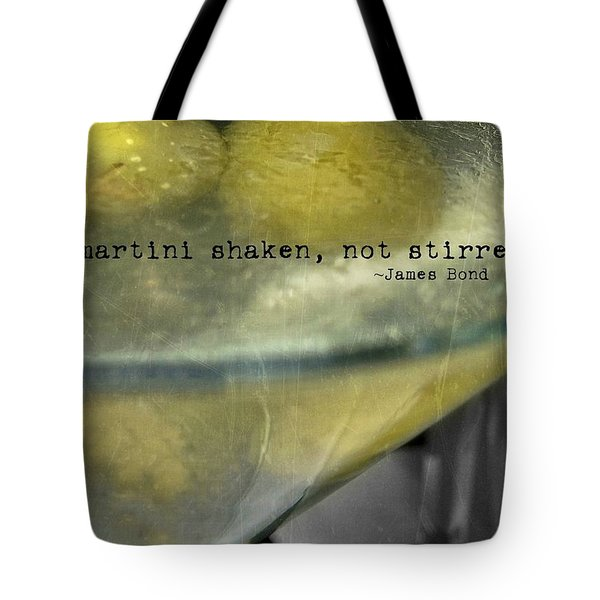 Frozen Martini Quote Tote Bag by JAMART Photography