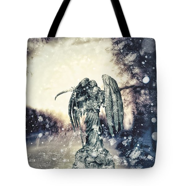 Frozen Tote Bag by Mo T