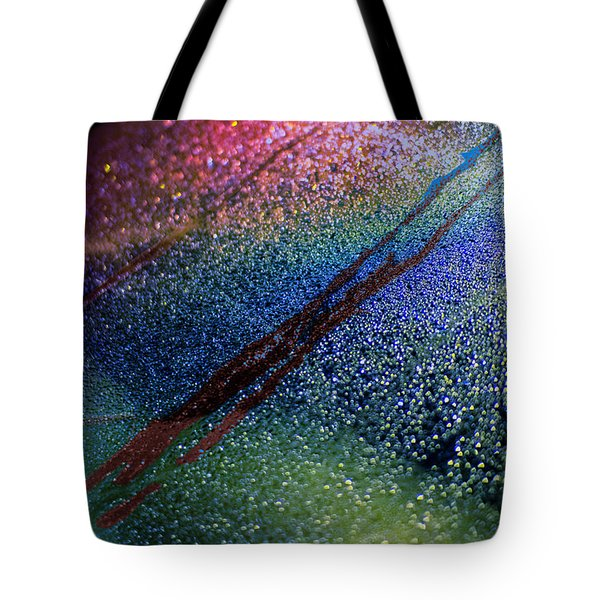 Tote Bag featuring the photograph Frozen Rear Car Window by Dave Beckerman