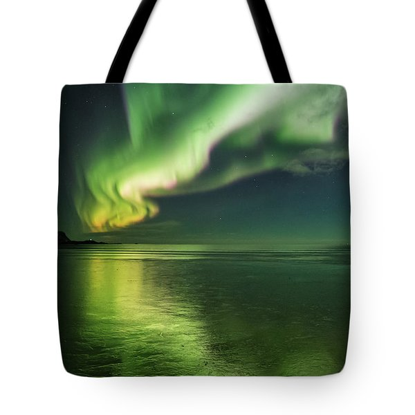 Frozen Reflection Tote Bag