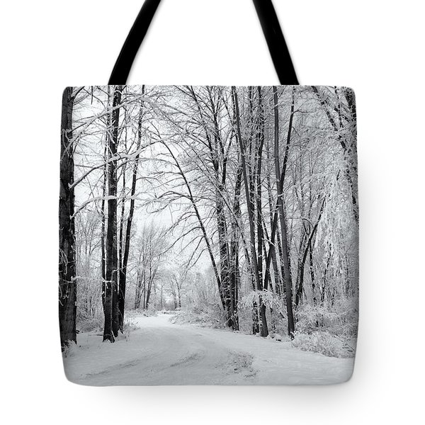 Frozen Road Tote Bag