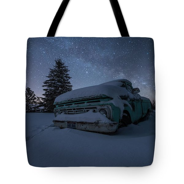 Tote Bag featuring the photograph Frozen Rust  by Aaron J Groen