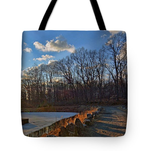 Frozen Sunset Tote Bag by Jeffrey Friedkin