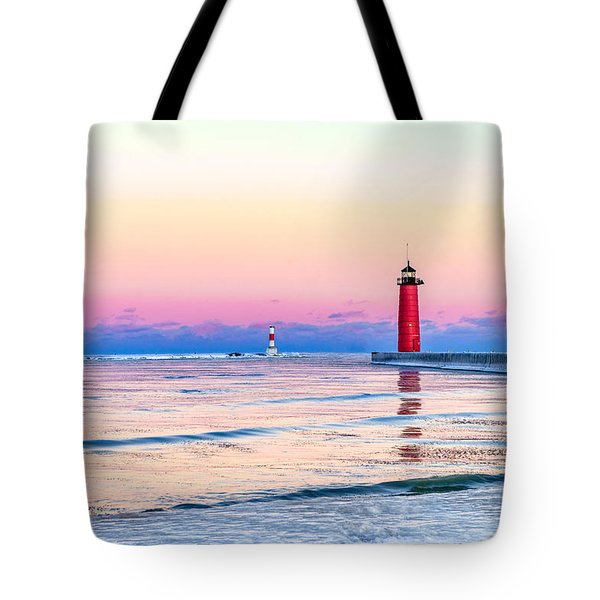 Frozen Sunset Tote Bag