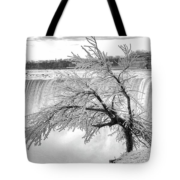 Frozen Tree Near Niagara Falls Tote Bag