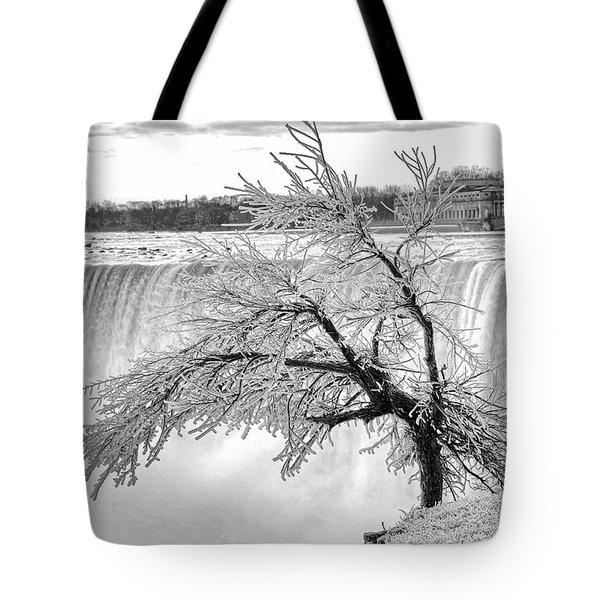 Frozen Tree Near Niagara Falls Tote Bag