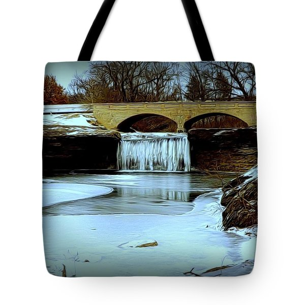 Frozen Tryst Falls, Mo  Tote Bag
