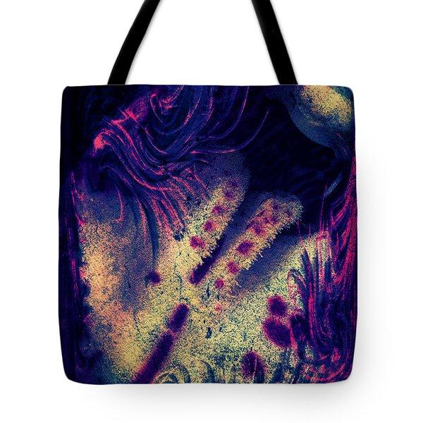 Frozen Violet Tote Bag