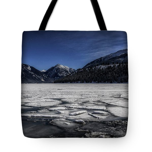Tote Bag featuring the photograph Frozen Wallowa Lake by Cat Connor