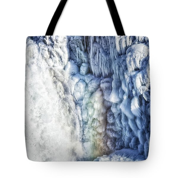 Tote Bag featuring the photograph Frozen Waterfall Gullfoss Iceland by Matthias Hauser
