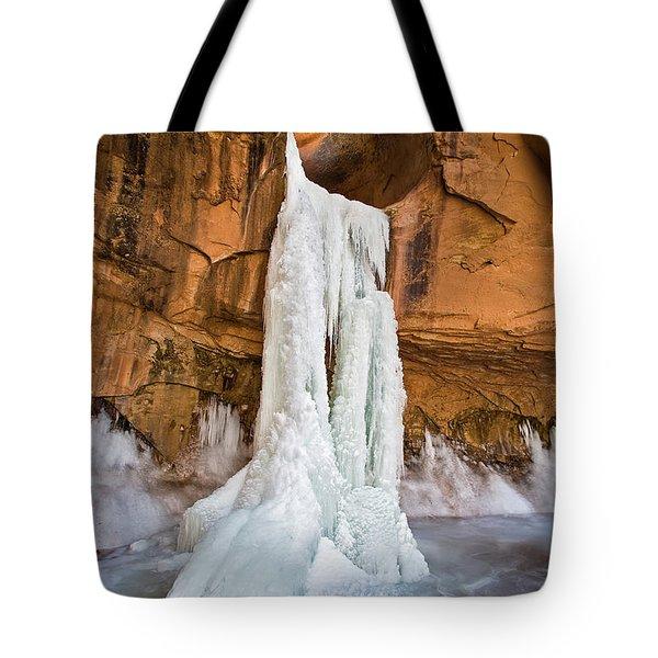 Frozen Waterfall Tote Bag