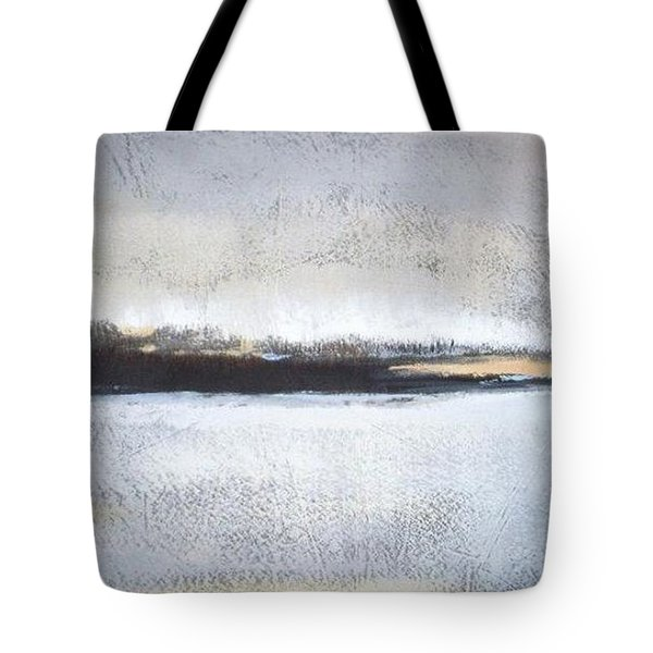 Frozen Winter Lake Tote Bag