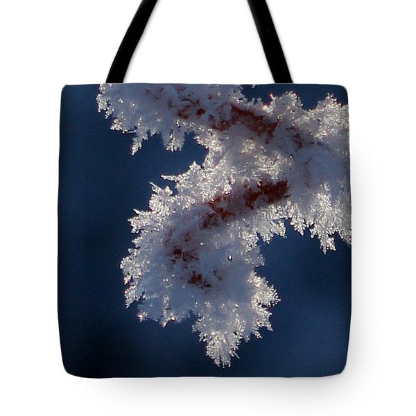 Tote Bag featuring the photograph Frozen World by Silke Brubaker