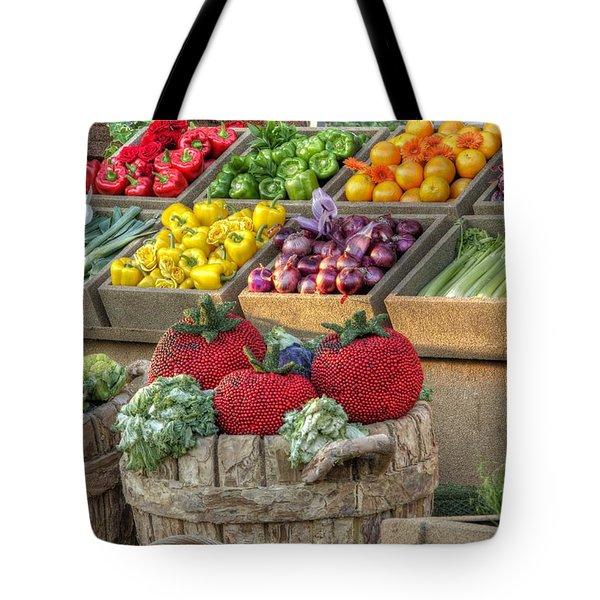Fruit And Veggie Display Tote Bag