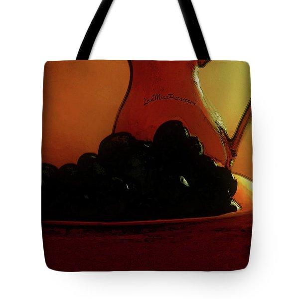 Fruit Art Plate Of Fruits And Jar Tote Bag