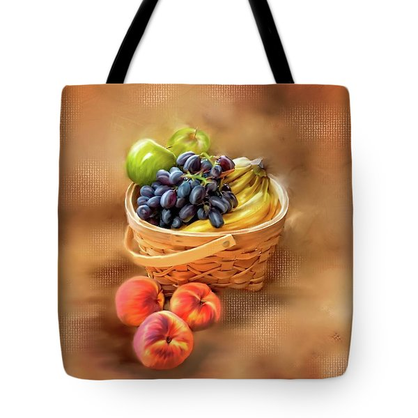 Fruit Basket Tote Bag by Mary Timman