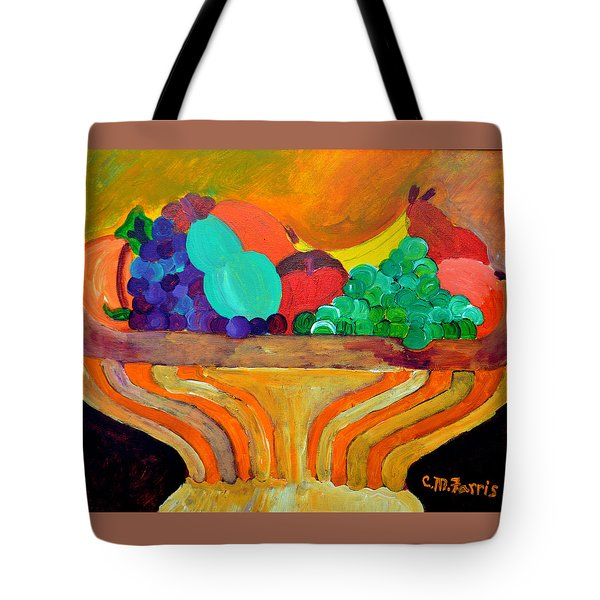 Tote Bag featuring the painting Fruit Bowl 1 by Christopher M Farris