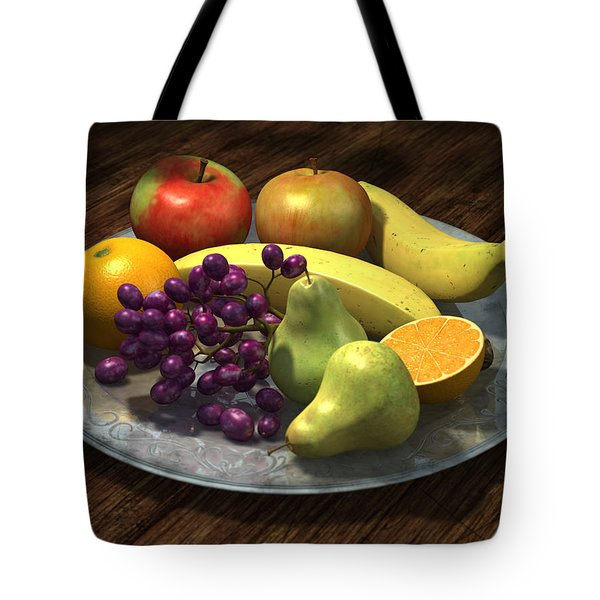 Fruit Bowl Tote Bag by Martin Davey
