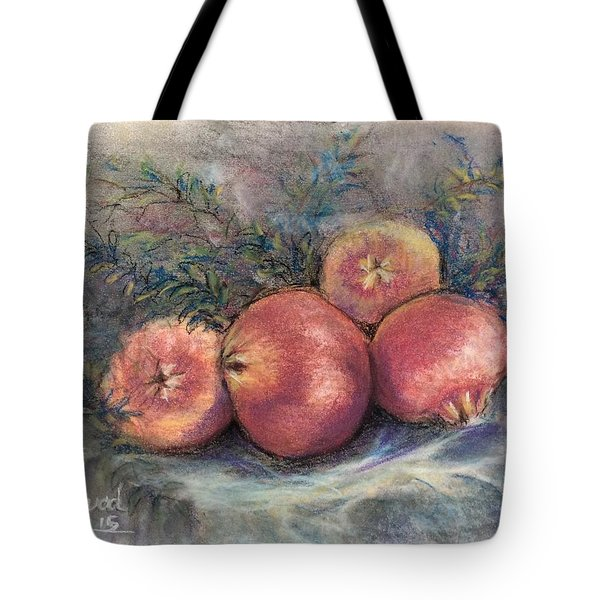 Tote Bag featuring the painting Pomgrenadin  by Laila Awad Jamaleldin