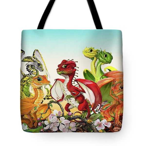 Fruit Medley Dragons Tote Bag