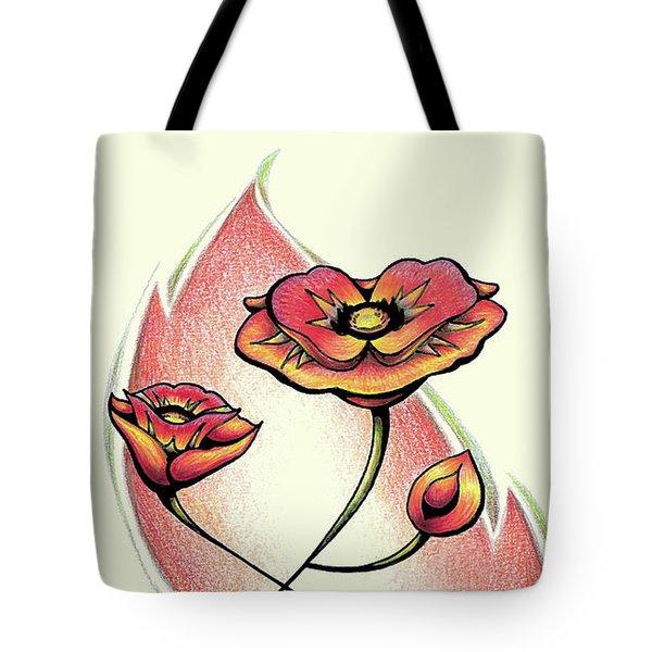 Vibrant Flower 1 Poppy Tote Bag