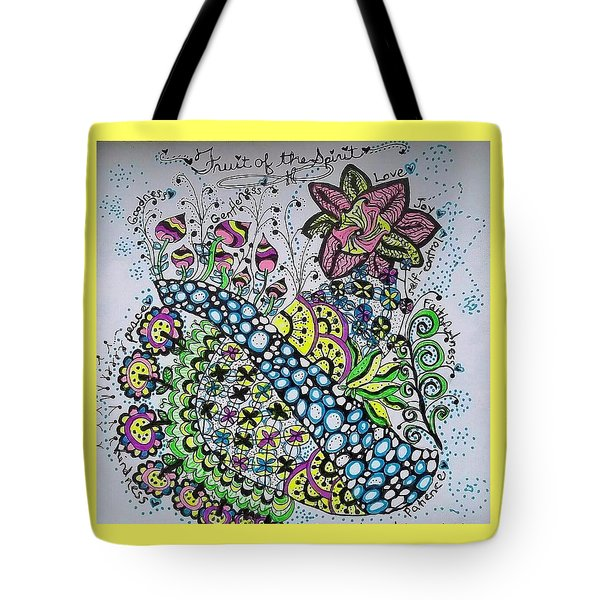 Fruit Of The Spirit Tote Bag by Carole Brecht