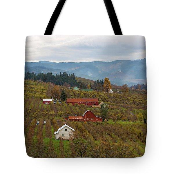 Fruit Orchard Farmland In Hood River Oregon Tote Bag