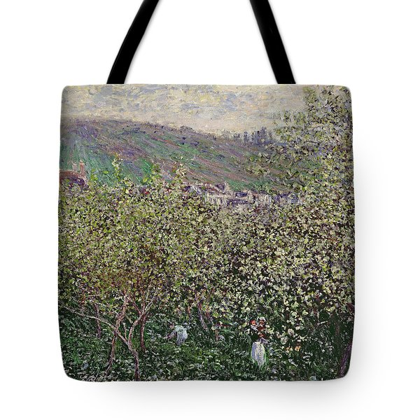 Fruit Pickers Tote Bag by Claude Monet
