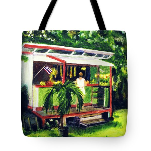 Fruit Stand North Shore Oahu Hawaii #163 Tote Bag by Donald k Hall
