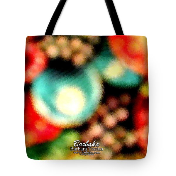 Fruit Sticker Tote Bag by Barbara Tristan